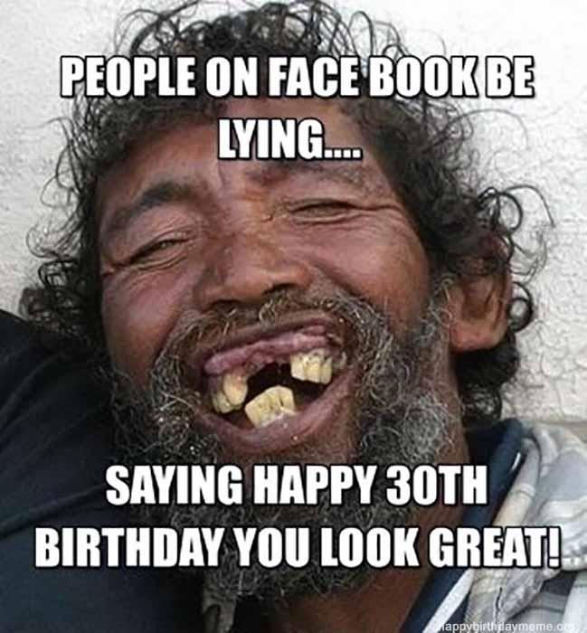 Simple Happy 30th Birthday Meme