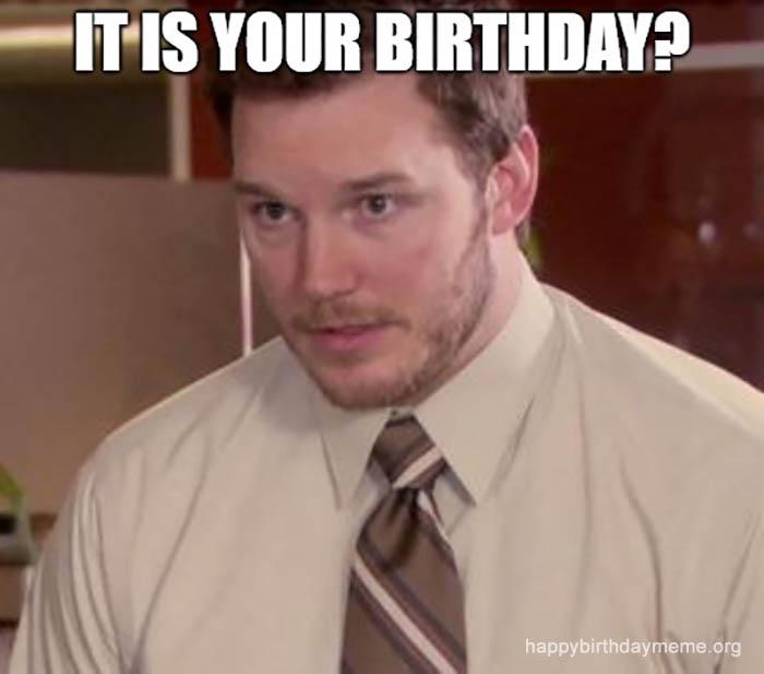 Andy Dwyer birthday meme