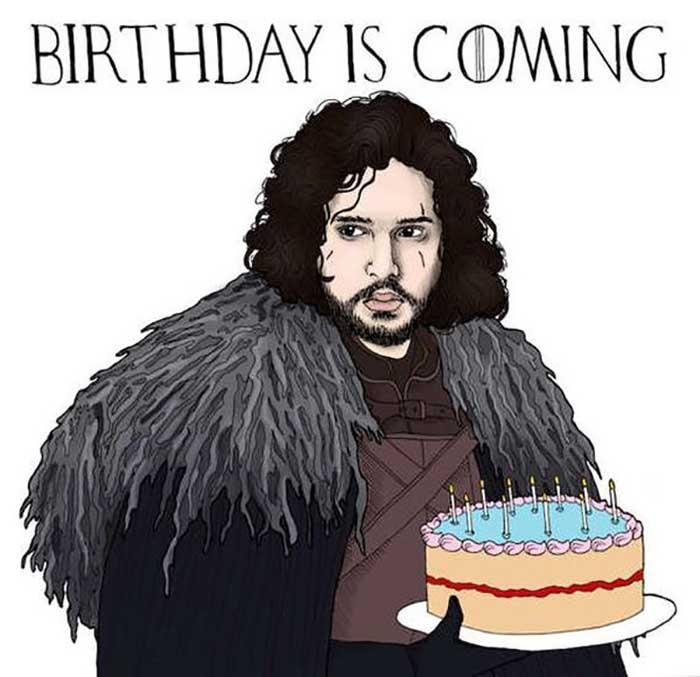 Game-of-Thrones-Happy-Birthday-Meme Jon Snow