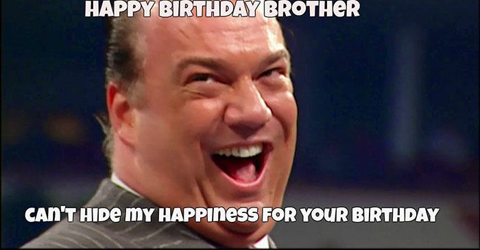 Paul Heyman happy birthday meme