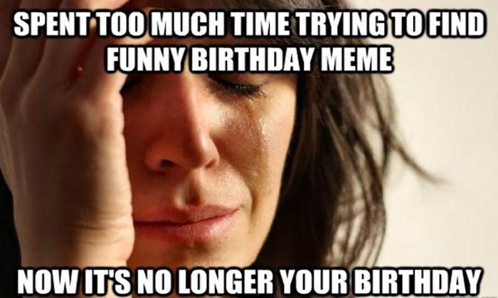 belated birthday images meme