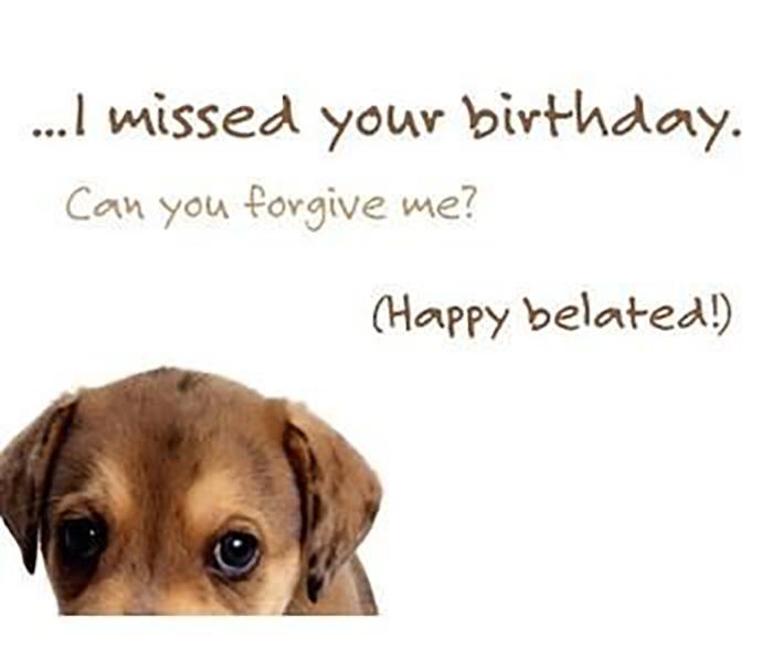 belated birthday memes dog