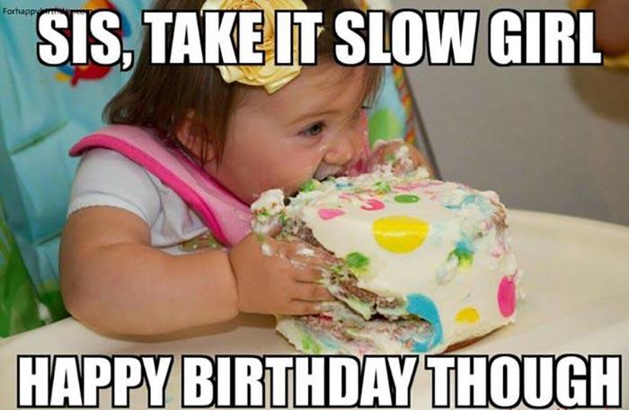 birthday cake meme sister
