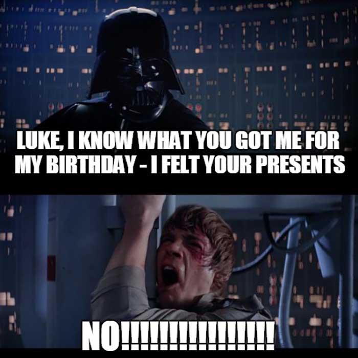 dark vador funny birthday meme