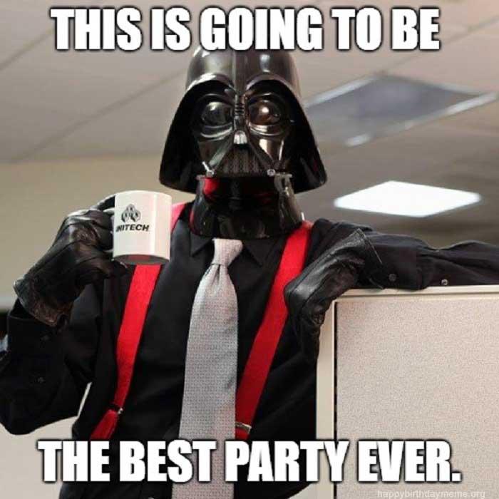 dark vador the office birthday meme