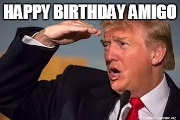 donald trump birthday meme