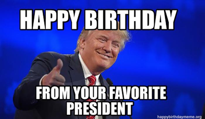 donald trump happy birthday meme
