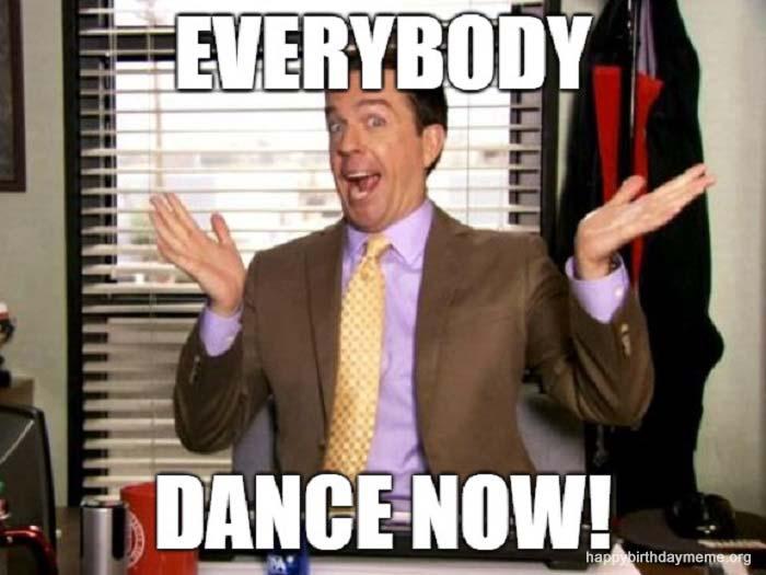 everybody dance now meme birthday