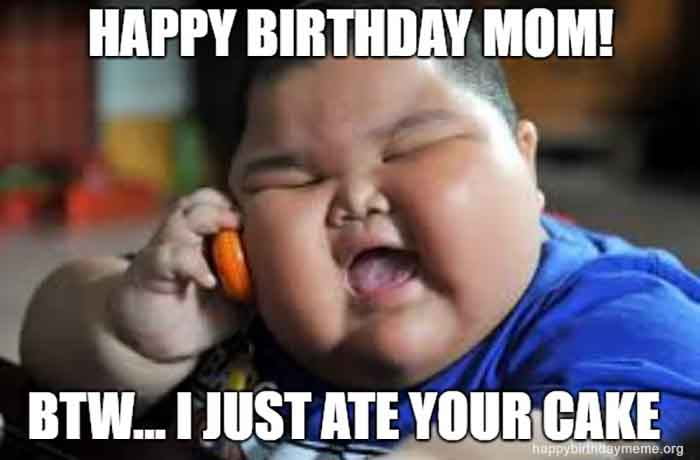 fat baby birthday mom
