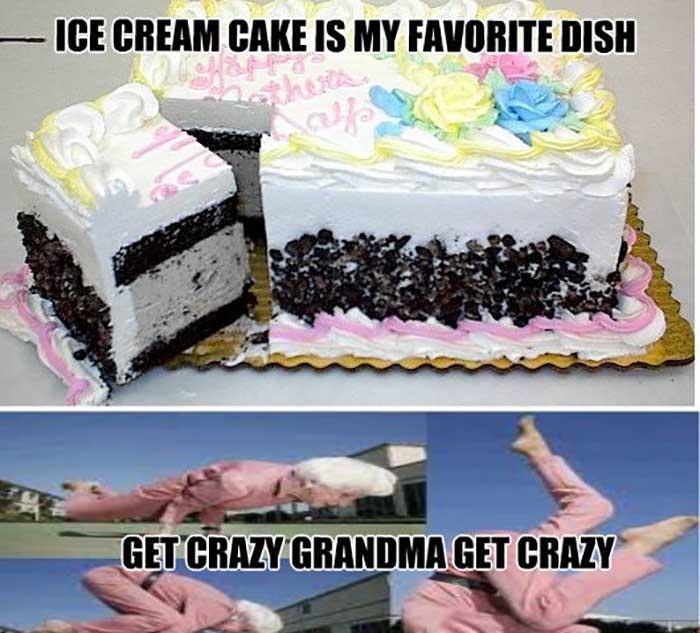 funny birthday cake meme crazy grandma