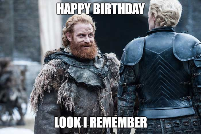 funny birthday meme game of thrones