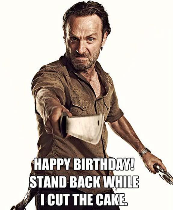 funny birthday meme walking dead Rick Grimes