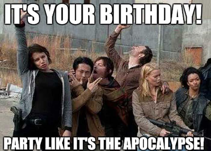 funny birthday meme walking dead party like