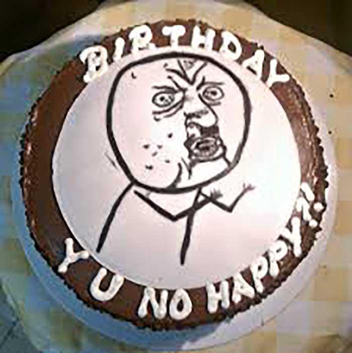 funny grumpy memes birthday cake