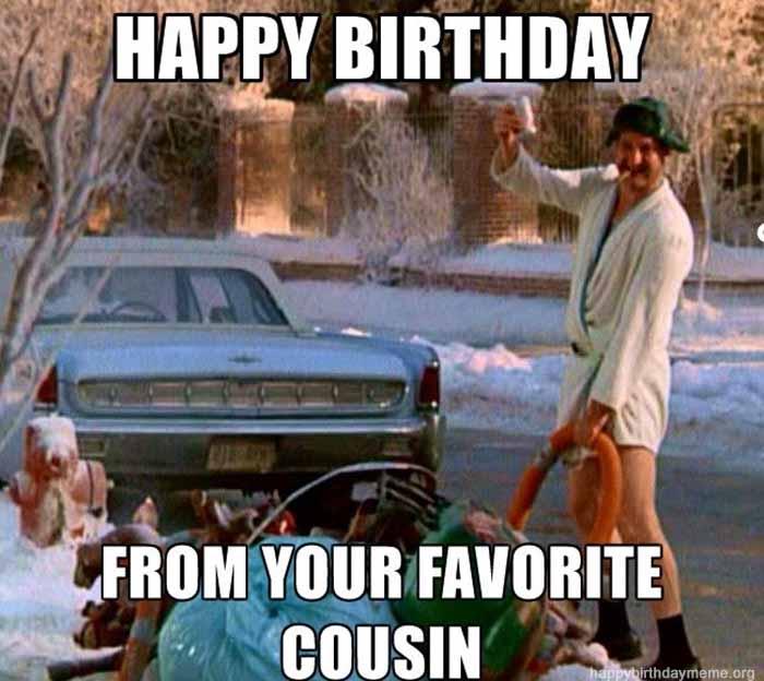 funny happy birthday cousin meme