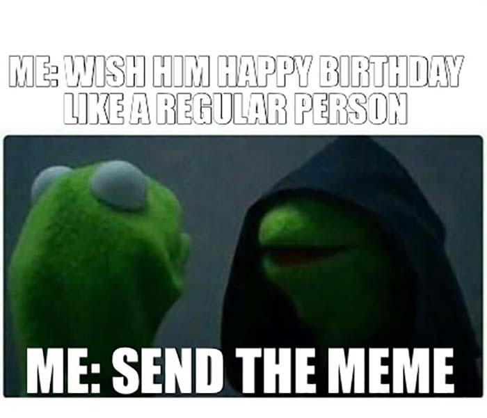 funny happy birthday friend meme for him