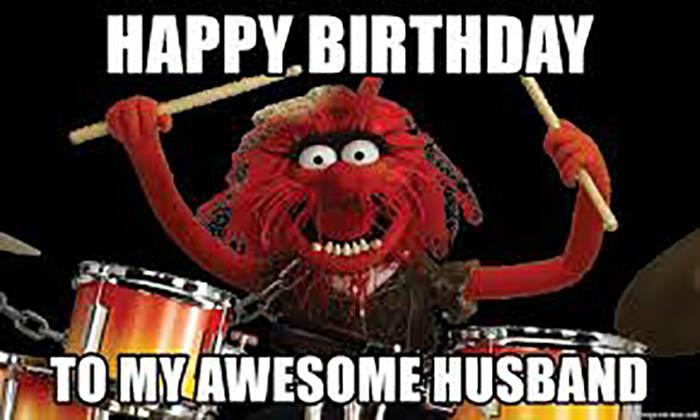 funny husband birthday meme