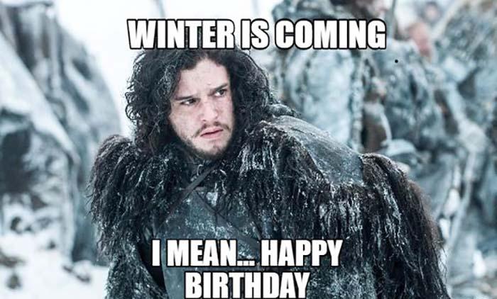 game of thrones happy birthday meme John Snow