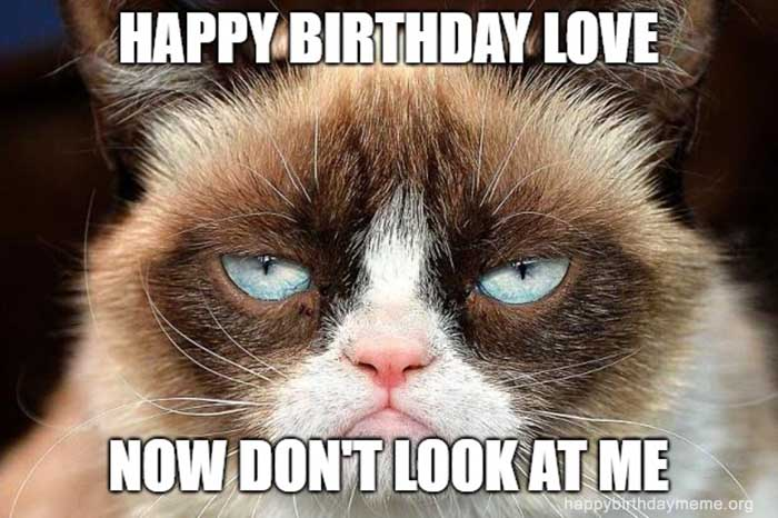 grumpy cat meme birthday
