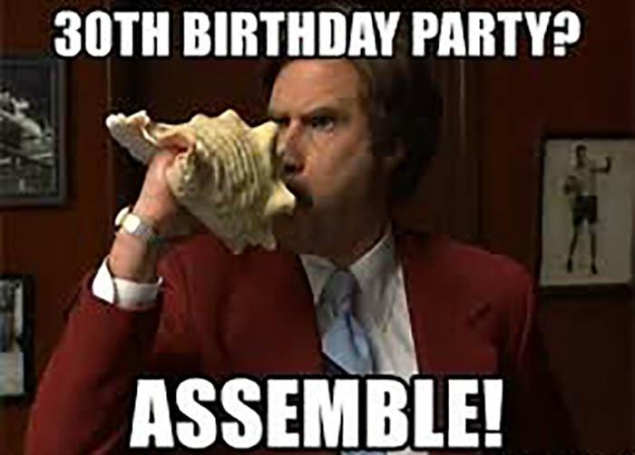 happy 30th birthday meme assemble