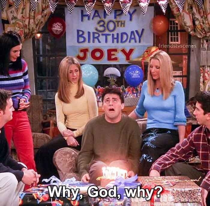 happy 30th birthday meme friends