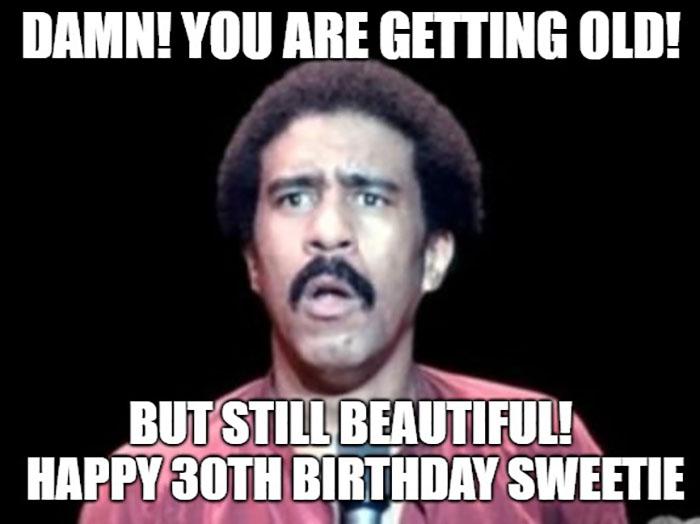 happy 30th birthday meme richard pryor