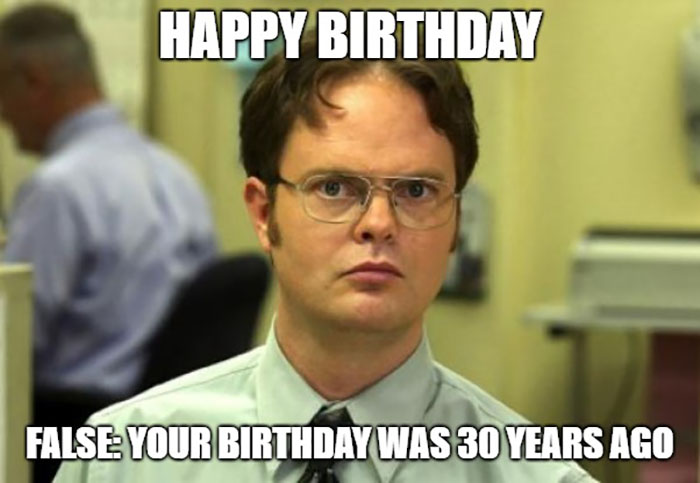 happy 30th birthday meme the office
