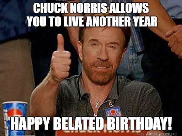happy belated birthday Chuck Norris