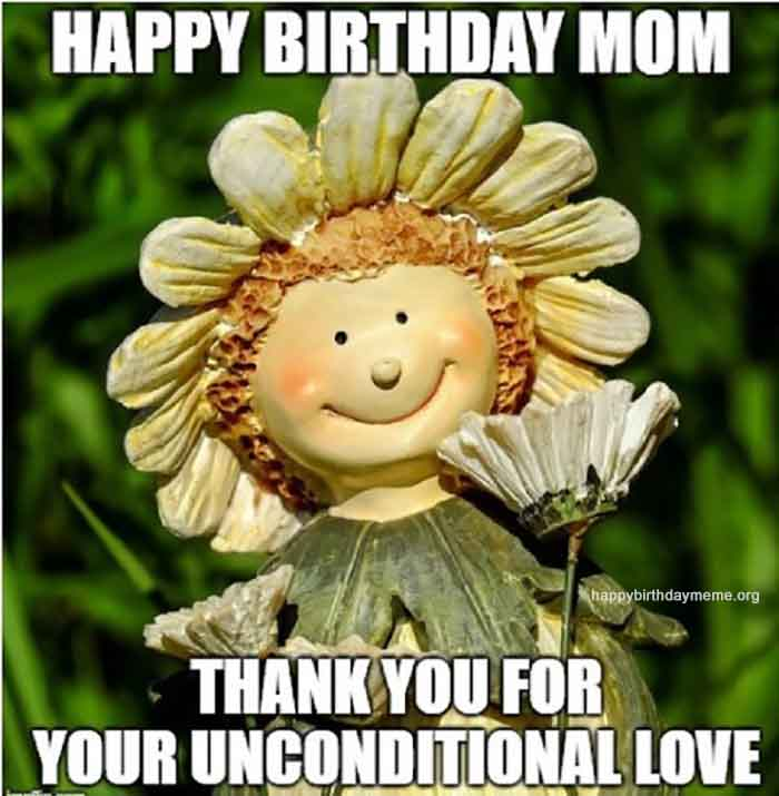 happy birthaday mom with flowers