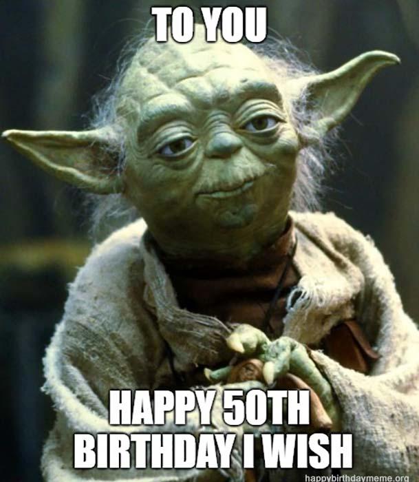 happy birthday 50th meme yoda star wars