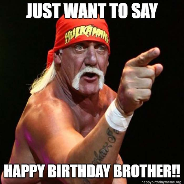 happy birthday brother meme hulk hogan