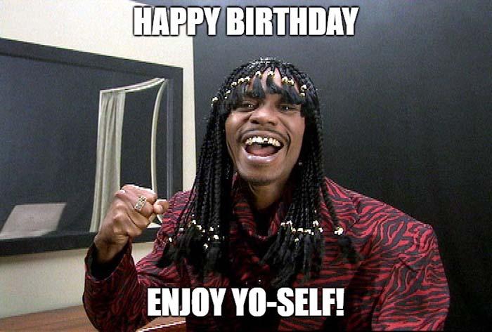 happy birthday cousin meme enjoy yo-self