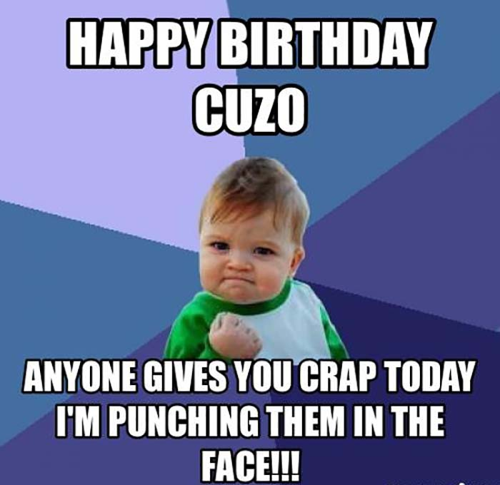 happy birthday cuzo meme