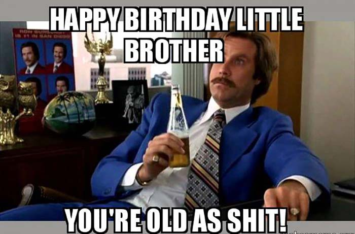happy birthday little brother meme
