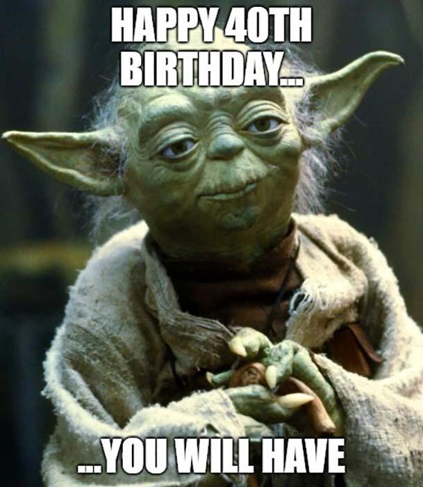 happy birthday meme 40th yoda