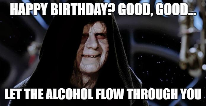 happy birthday meme for him star wars