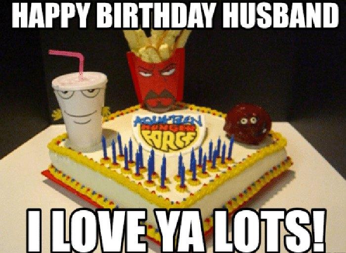 happy birthday meme for husband cake
