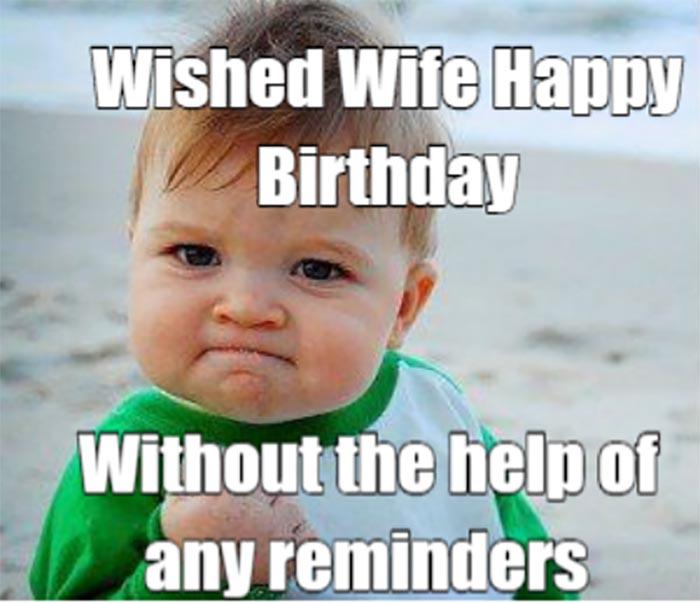 happy birthday meme for wife