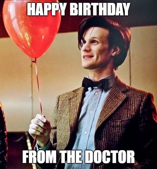 happy birthday meme from doctor who