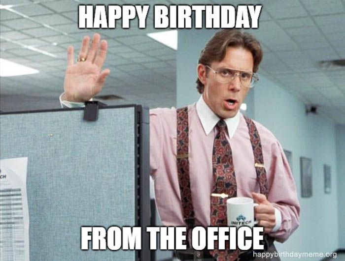 happy birthday meme from the office
