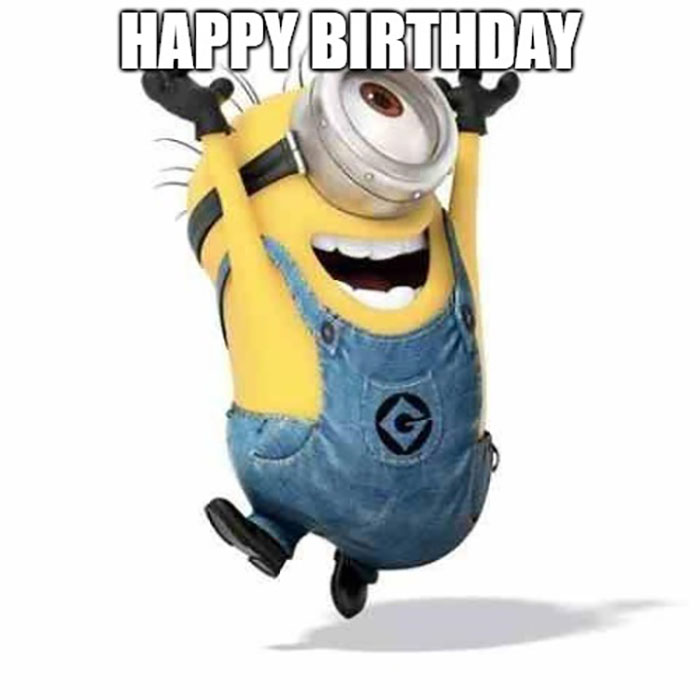 happy birthday meme minions