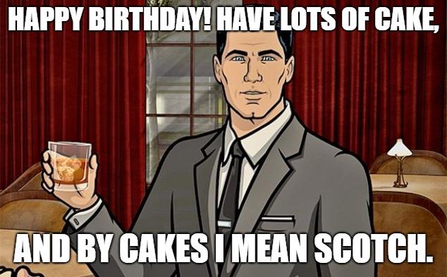 happy birthday meme sister archer