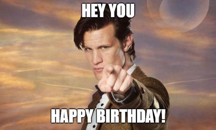 hey you doctor who happy birthday meme