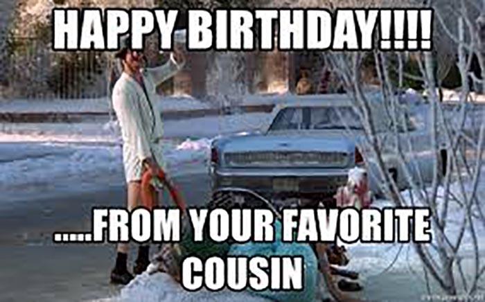 happy birthday meme favorite cousin