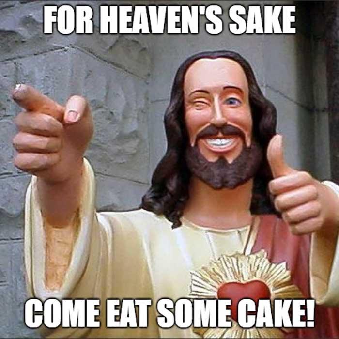 jesus memes birthday cake