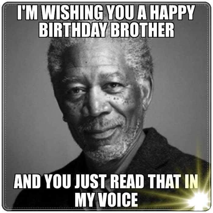 Little brother happy birthday meme