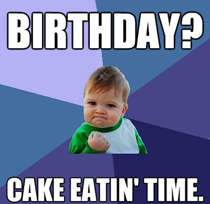 meme cake eating time