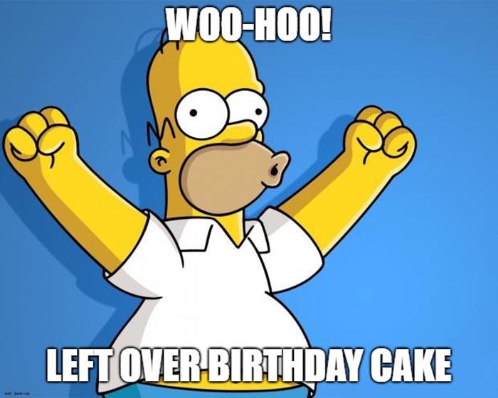 simpson birthday cake meme