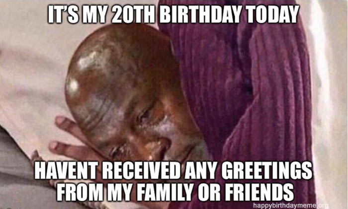 spent-the-whole-day-on-my-bed-9gag-netflix-and-tears 20th birthday