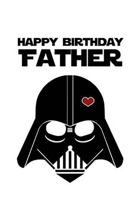 star wars birhday meme for father